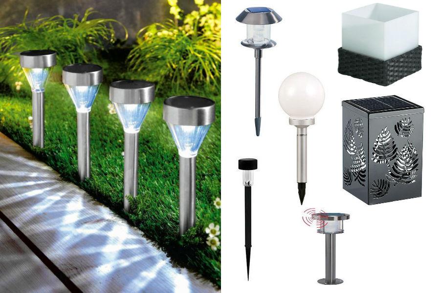Oświetlenie ogrodu - lampy solarne