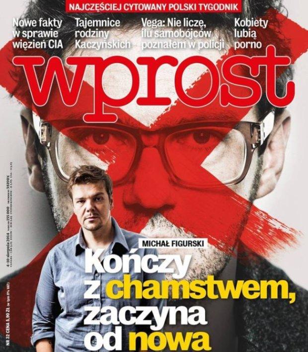 Michał Figurski na okładce Wprost