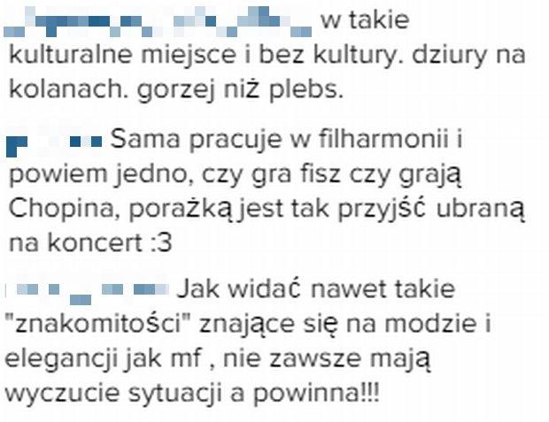 Komentarze fanek Maffashion na Instagramie