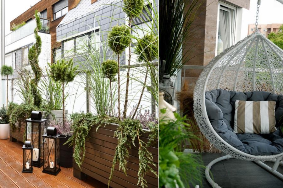 Balkon pełen zieleni