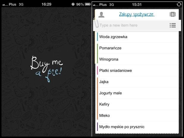 Wirtualna karteczka z zakupami