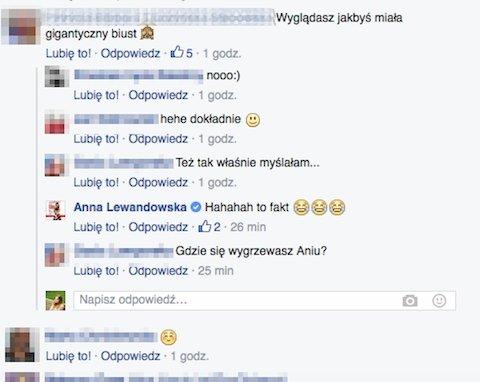 Anna Lewandowska żartuje z fanami