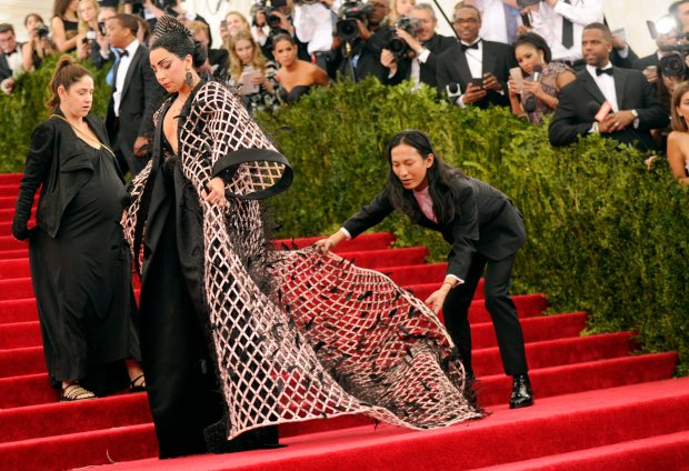 Lady Gaga and Alexander Wang arrive at The Metropolitan Museum of Art's Costume Institute benefit gala celebrating
