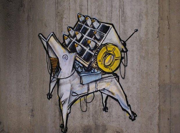 Graffiti w Atomowej Kwaterze Dowodzenia (fot. Agata Połajewska)