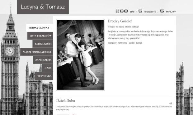 Przykładowa strona ślubna zankyou