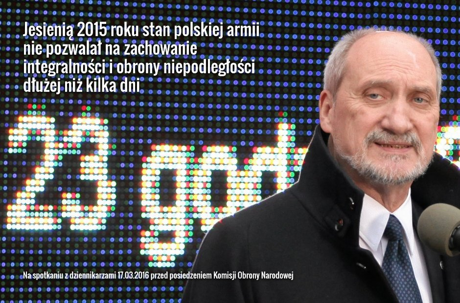 Antoni Macierewicz o obronności państwa (fot. Sławomir Kamiński/AG)
