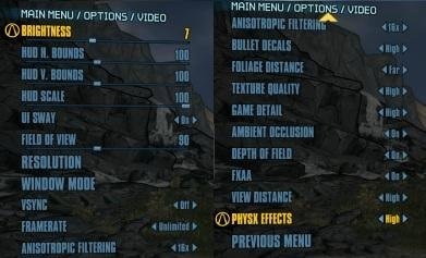 Borderlands 2 - opcje graficzne