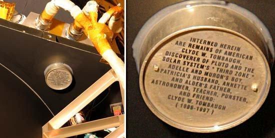 Pojemnik z prochami odkrywcy Plutona
