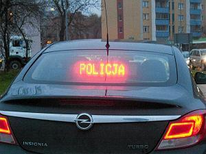 14.11.2013 Bialystok .  Samochod z napisem policja . Fot. Agnieszka Sadowska / Agencja Gazeta  SLOWA KLUCZOWE: policja wypadek