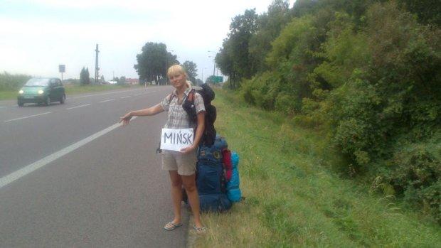 Hanna Sobczuk w drodze do domu.