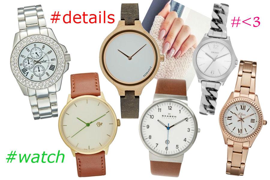 moda, zegarki, jesień