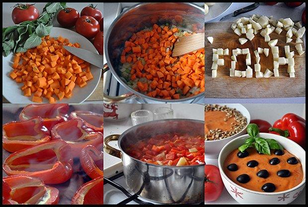 Niezwykła przemiana warzywnych kosteczek w puszystą masę