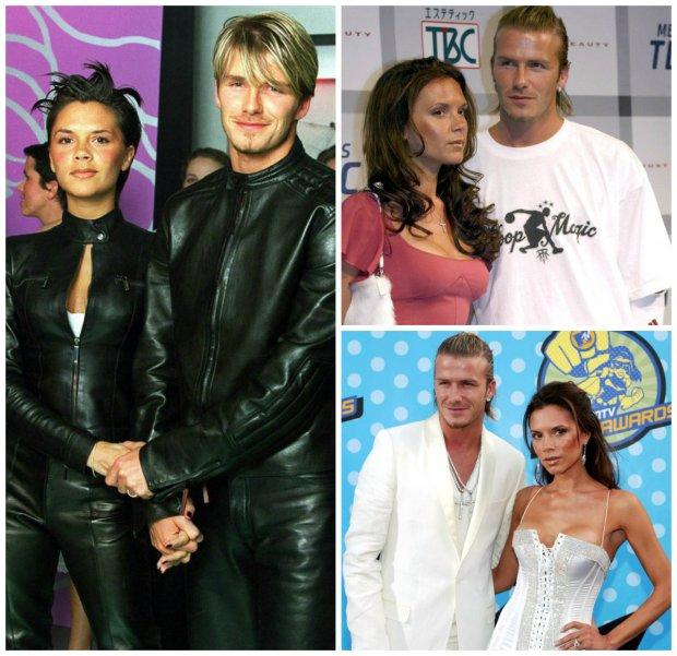 David i Victoria Beckham przed laty