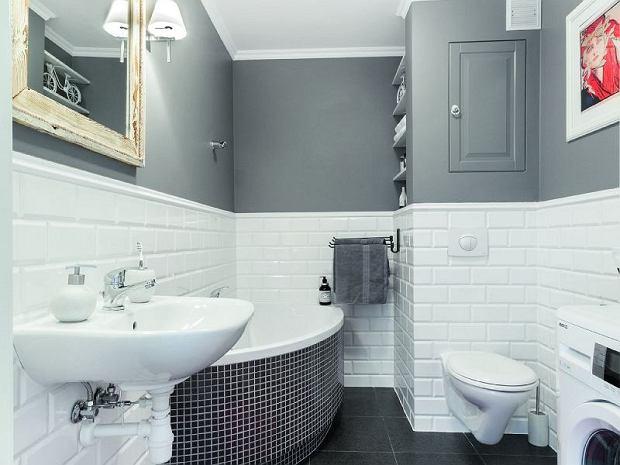 Stylowa łazienka z asymetryczną wanną