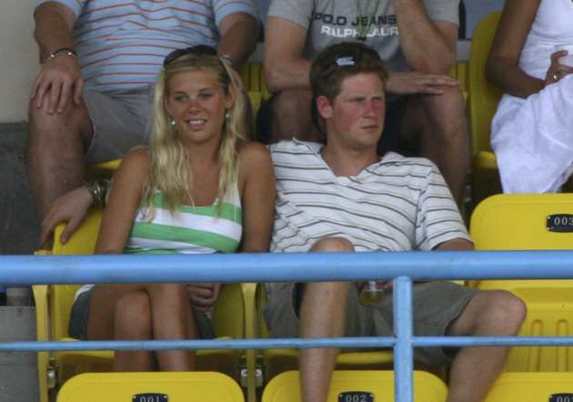 ST JOHN'S, ANTIGUA AND BARBUDA - APRIL 08:  IL 08:  IL 08:  IL 08:  Prince Harry watches and his girlfriend Chelsy Davy the cricket during the ICC Cricket World Cup 2007 Super Eight match between England and Australia at the Sir Vivian Richards Cricket Grounds on April 8, 2007 in St John's, Antigua.  (Photo by Shaun Botterill/Getty Images) *** Local Caption *** Prince Harry;Chelsy Davy