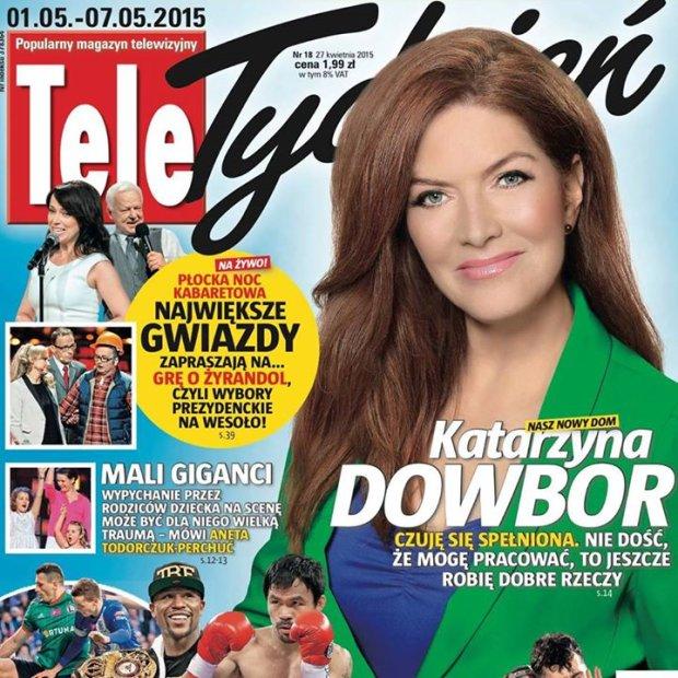 Katarzyna Dowbor na okładce 'Tele Tygodnia'