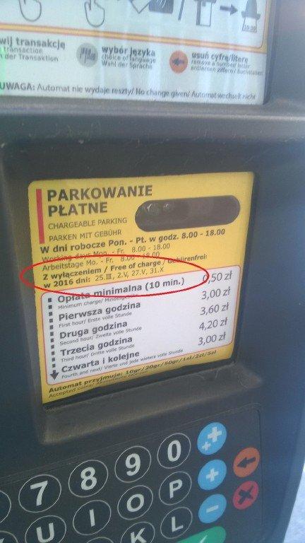 Darmowe parkowanie