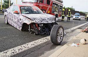 Przedwczesny crashtest   Wypadek prototypu BMW serii 2