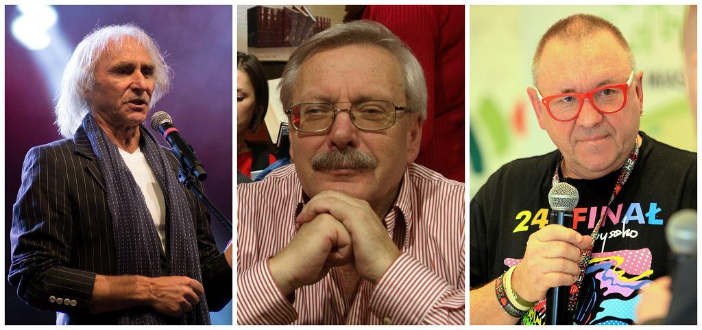 Jerzy Kryszak, Marcin Wolski, Jerzy Owsiak (fot. Grażyna Marks/AG/Ja Fryta/Wikimedia Commons/CC BY-SA 2.0/Mieczysław Michalak/AG)