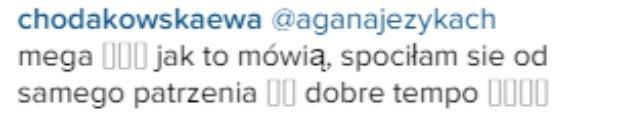 Ewa Chodakowska komentuje post Agnieszki Szulim