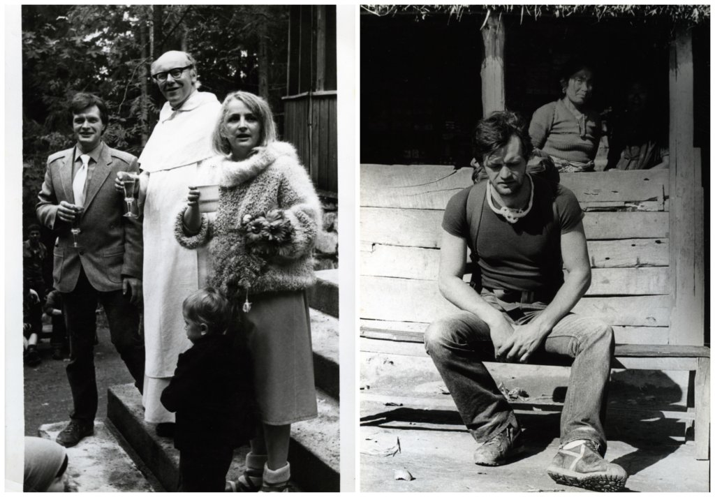 Z lewej ślub Berbeków, z prawej Maciej Berbeka podczas wyprawy na Manaslu, 1984 r. (fot. archiwum Ewy Berbeki)