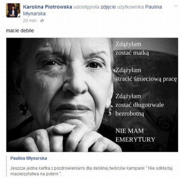Karolina Korwin-Piotrowska komentuje spot kampanii fundacji