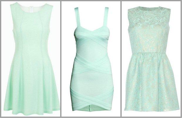 Miętowe sukienki