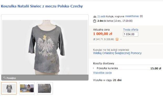 koszulka Natalii Siwiec