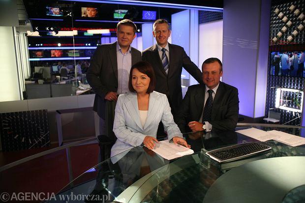 Sławomir Siezieniewski, Marcin Lewandowski, Danuta Holecka i Adrian Klarenbach w 2008