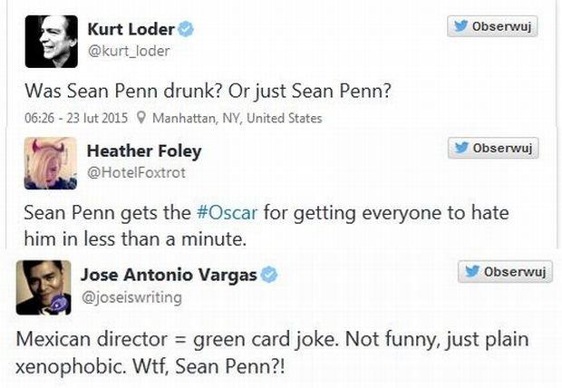 Komentarze na temat żartu Seana Penna