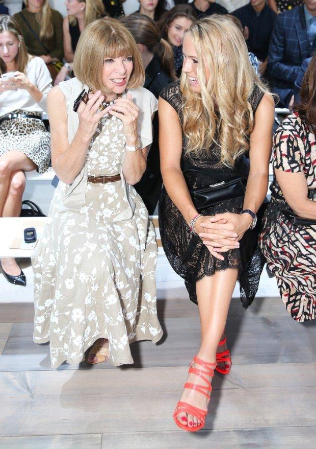 Anna Wintour, Caroline Wozniacki - 9/10/2014 - New York , New York - MICHAEL KORS SS15 Runway Show held at Spring Studios, NYC. Photo Credit: David X Prutting/BFAnyc/Sipa USA