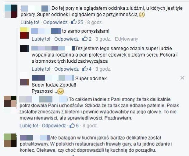 Komentarze na Facebook.com/Magda Gessler/ Facebook.com/Kuchenne rewolucje