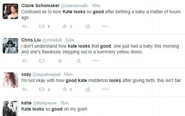 Reakcje Brytyjek na wygląd Kate zaraz po porodzie