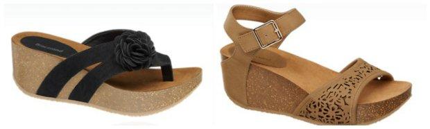 deichmann buty klapki na koturnie