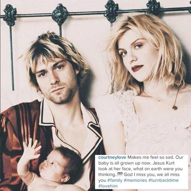Kurt Cobain, Courtney Love i Frances Bean