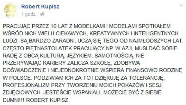 Robert Kupisz - komentarz