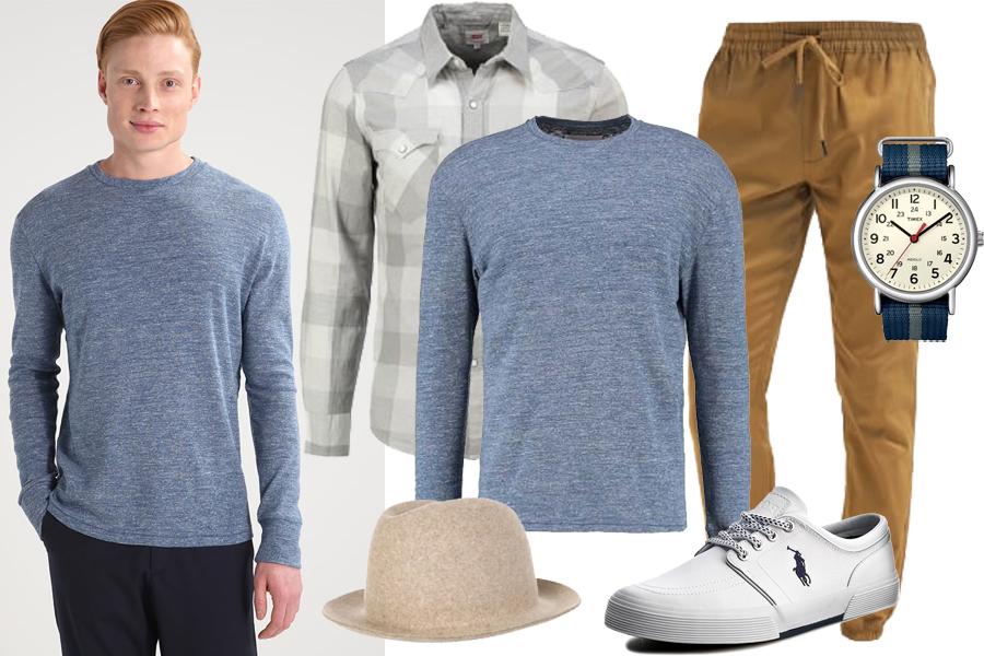 Stylizacja sweter z okrągłym wykończeniem / Kolaż / Materiały partnera