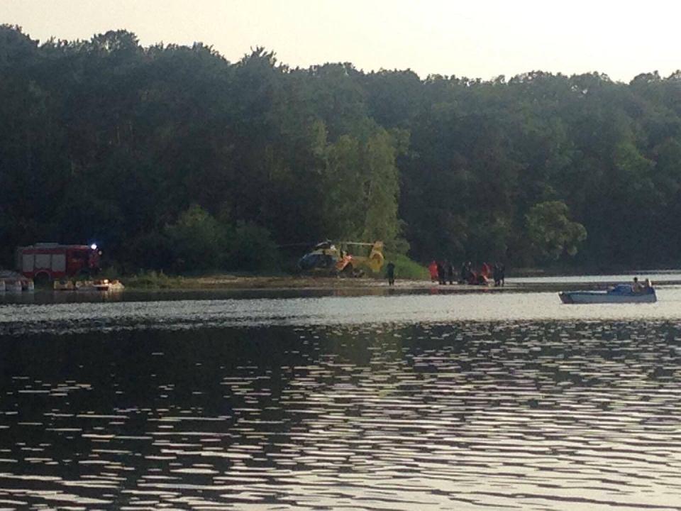 Fantastyczny 19-latek miał wielkie szczęście. Topił się w jeziorze w Grabinie HQ02