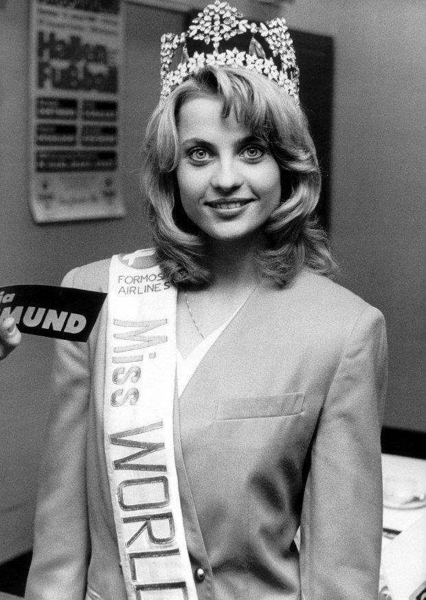 RCOD 210-32 (26596-31) Aneta Kreglicka. Obligatory Credit - CAMERA PRESS/ ERMA. NOT FOR SALE IN AUSTRIA, GERMANY. Miss World 1989 winner, Aneta Kreglicka of Poland.8BIMxHH