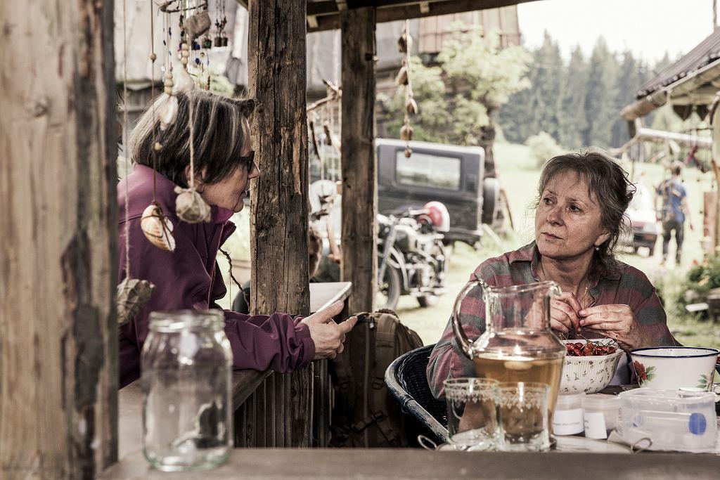 Agnieszka Holland i Agnieszka Mandat na planie filmu ''Pokot'' (fot. materiały prasowe)