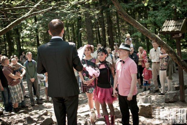 Ślub na Łysicy w Górach Świętokrzyskich