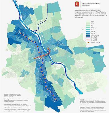 Gdzie i dokąd najchętniej jeździmy metrem? [MAPA]