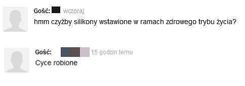 komentarze o Annie Lewandowskiej