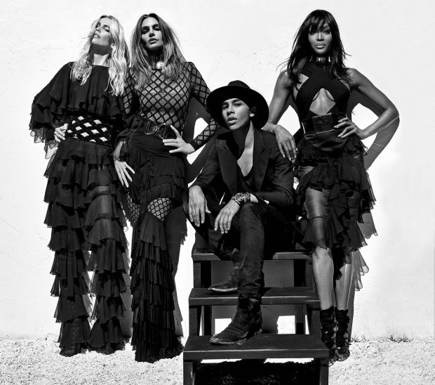 Supermodelki w kampanii Balmain wiosna-lato 2016. Claudia Schiffer, Cindy Crawford i Naomi Campbell