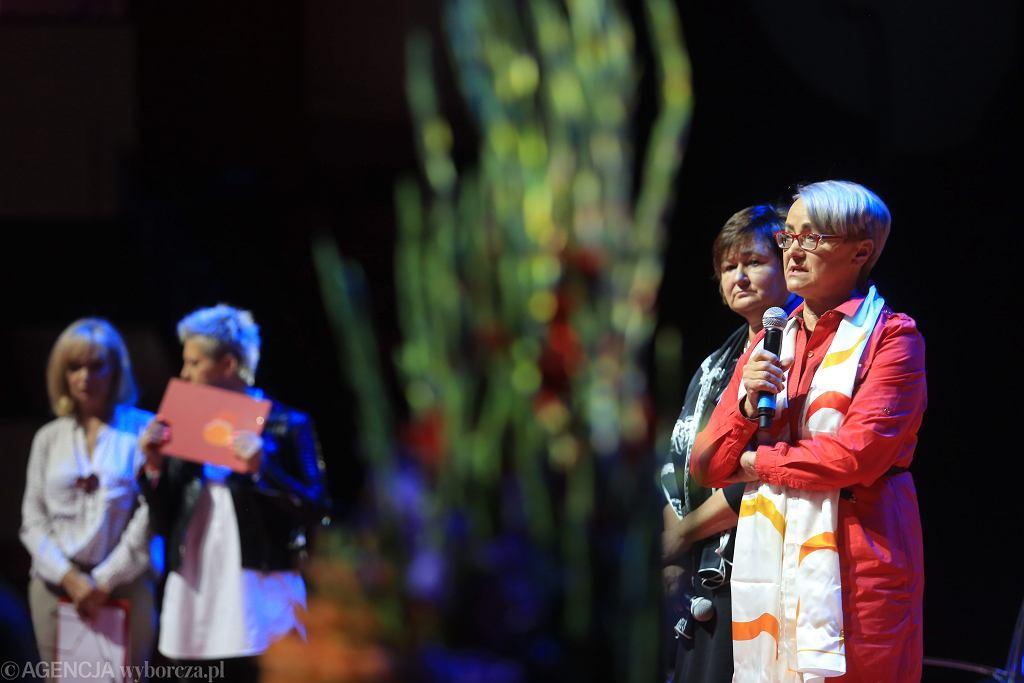 VII Kongres Kobiet. Henryka Bochniarz i Małgorzata Środa (fot. Jacek Marczewski / Agencja Gazeta)