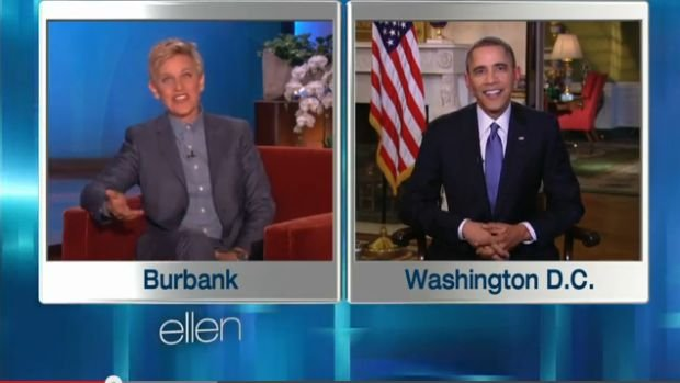 Barack Obama w programie u Ellen DeGeneres