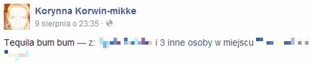Screen z facebook.com/korynna.korwinmikke