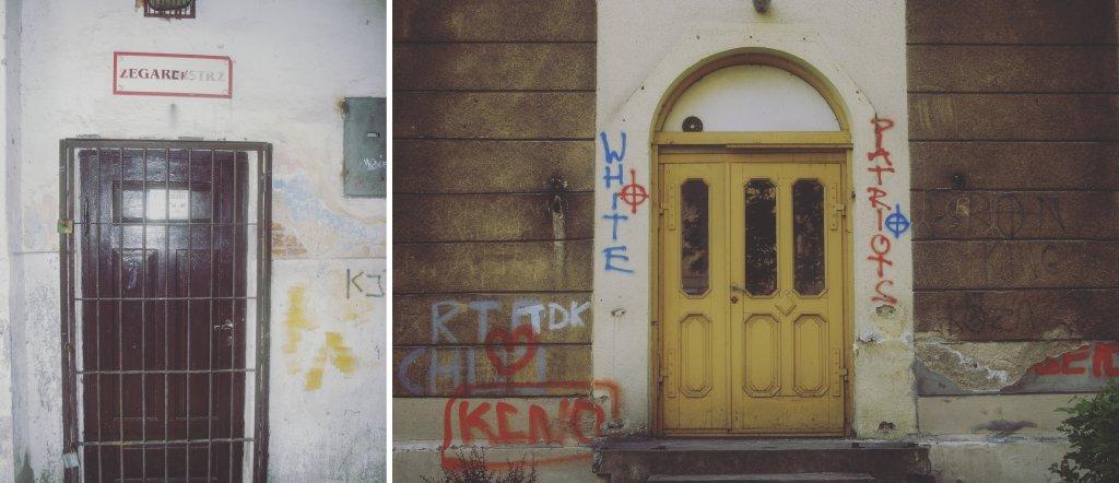 Drzwi radomskich budynków prawdopodobnie nie staną się, jak w przypadku Dublina, bohaterami pocztówek (fot. Damian Dziura)