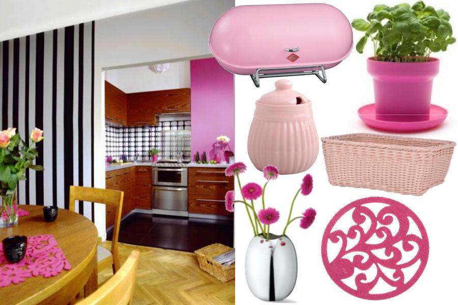 Różowe dodatki do kuchni
