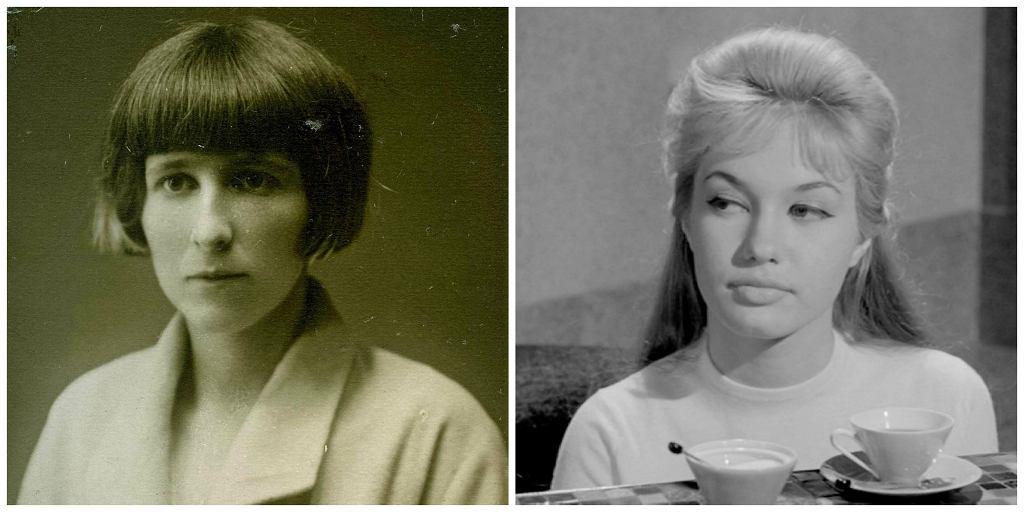 Po lewej starsza z córek poety - Lusia. Po prawej Gillian Hills, córka Duni i jedyna wnuczka twórcy (fot. Archiwum Państwowe w Zamościu / Kadr z filmu